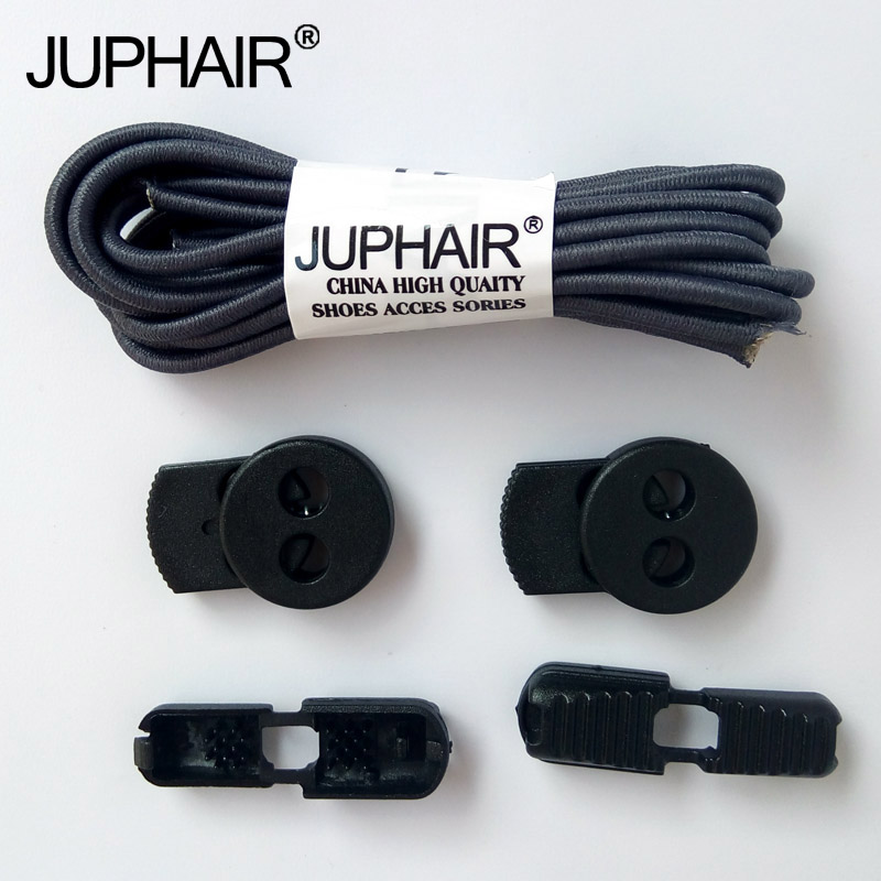 New 1 Pair New Black Laces Buckle Buckle Fashion No Tie Locking Shoelaces Sneakers Elastic Shoelaces Children Safe Elastic Laces fashion elastic woven pin buckle belt