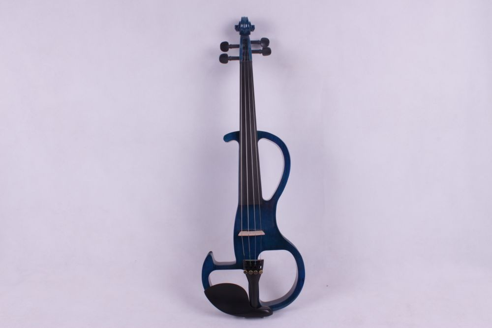blue 4 string  4/4 Electric Violin solid wood fine sound 1 Pcs the item is the color   if you need other color please tell me 4 4 electric violin solid wood 6 18 silvery dark blue color 4 string