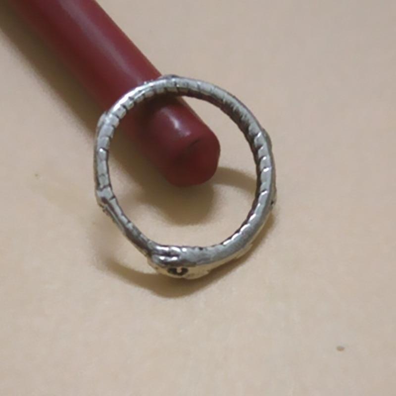 Drop shipping Retail Ouroboros prsten Šarmantni drevni srebrni - Modni nakit - Foto 2
