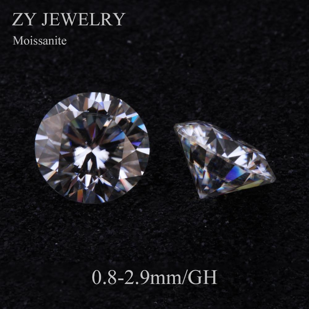 Precio de fábrica brillante corte GH Color/0,8 2,9mm 1 quilates/Paquete de gemas sueltas blanco moissanitas para anillo-in cuentas from Joyería y accesorios    1