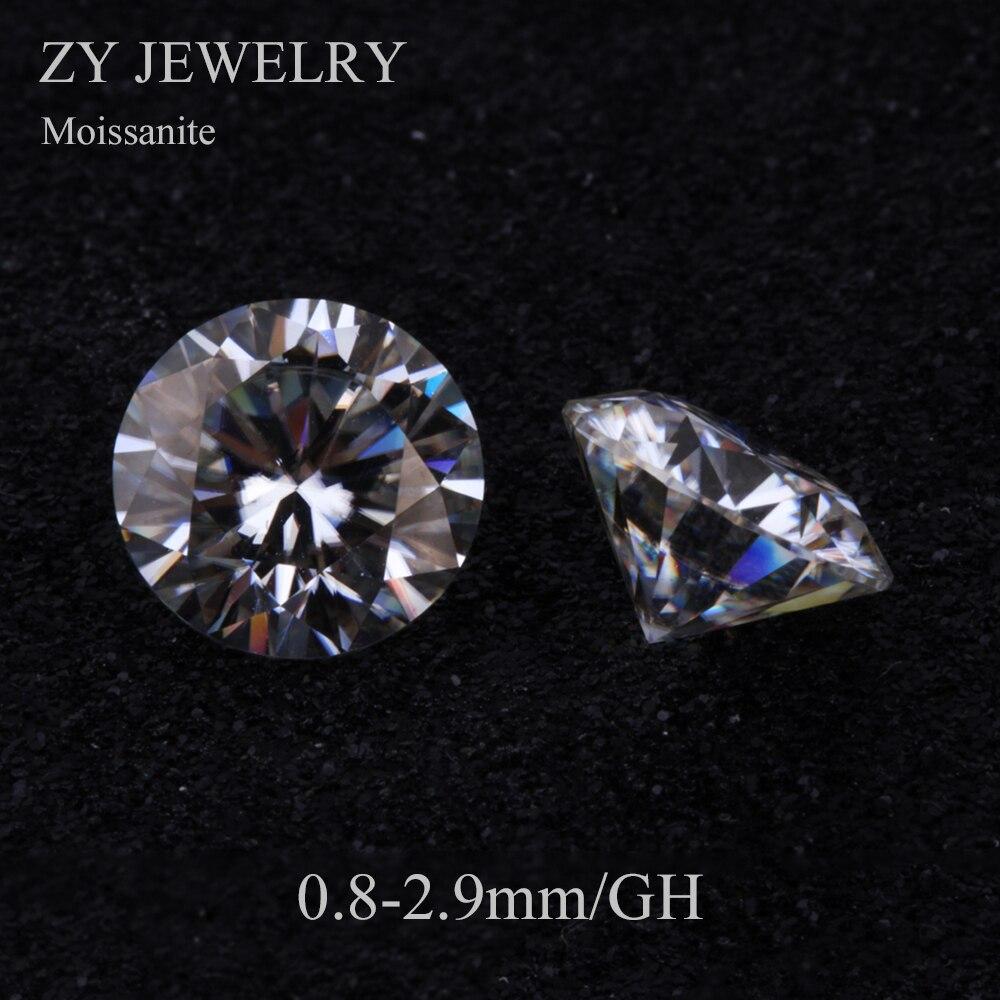 Prix usine brillant coupe GH couleur/0.8 2.9mm 1 carat/pack lâche gemmes blanc Moissanites pour bague-in Perles from Bijoux et Accessoires    1