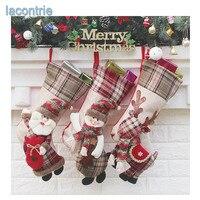 2017 Sale New Christmas Socks Gift Bag Christmas Tree Pendant Decoration Santa Snowman Elk Christmas Gift
