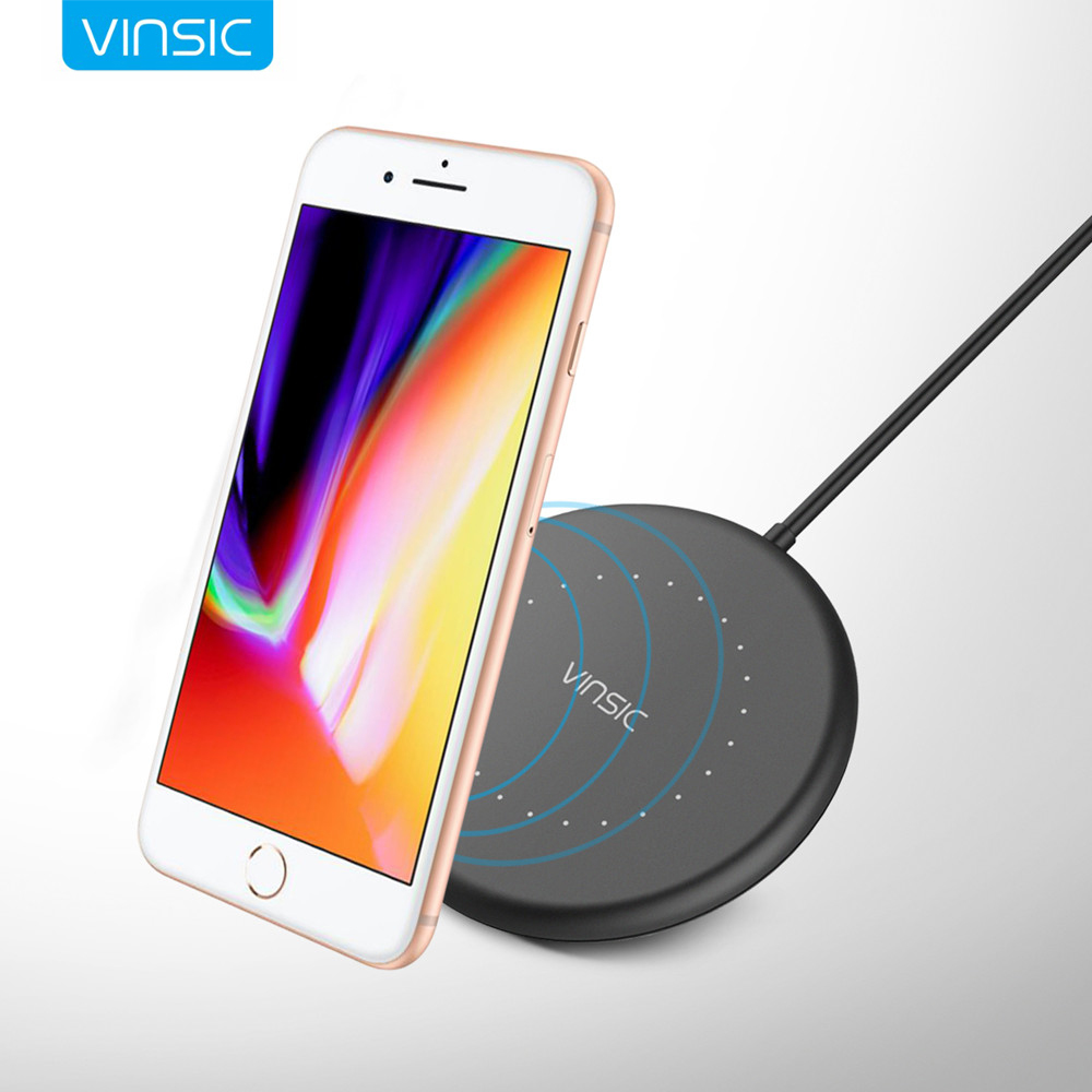 vinsic mini w14 qi wireless charger charging pad for. Black Bedroom Furniture Sets. Home Design Ideas