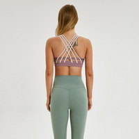 Women Yoga Bra Sexy Straps Top Backless Shockproof Quick drying Tank Top Breathable Gymwear Running Training Workout Crop Top