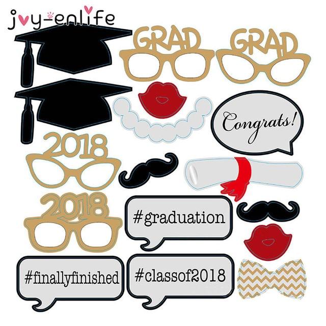 JOY ENLIFE 1set Photo Booth Props Graduation Party Decor