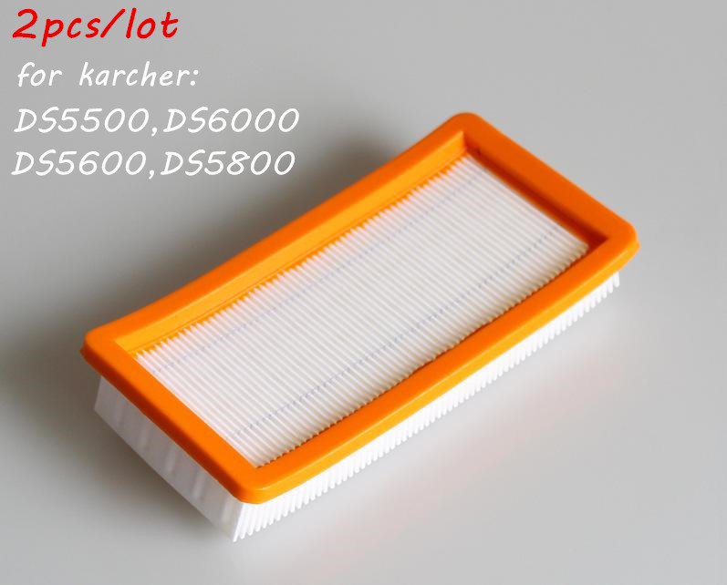 2pcs/lot Washable filter for karcher DS5500,DS6000,DS5600,DS5800 robot vacuum cleaner Parts Karcher 6.414-631.0 hepa filters china post 6 pcs lot air hepa filters for karcher 6 414 631 0 ds series ds5500 ds5600 ds56000 ds5800 ds6000 parts replacement