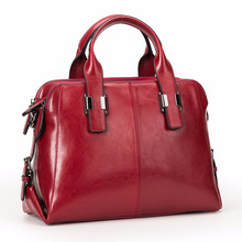 цены Real Cow Leather Ladies HandBags Women Genuine Leather bags Totes Messenger Bags Hign Quality Designer Luxury Brand Bag