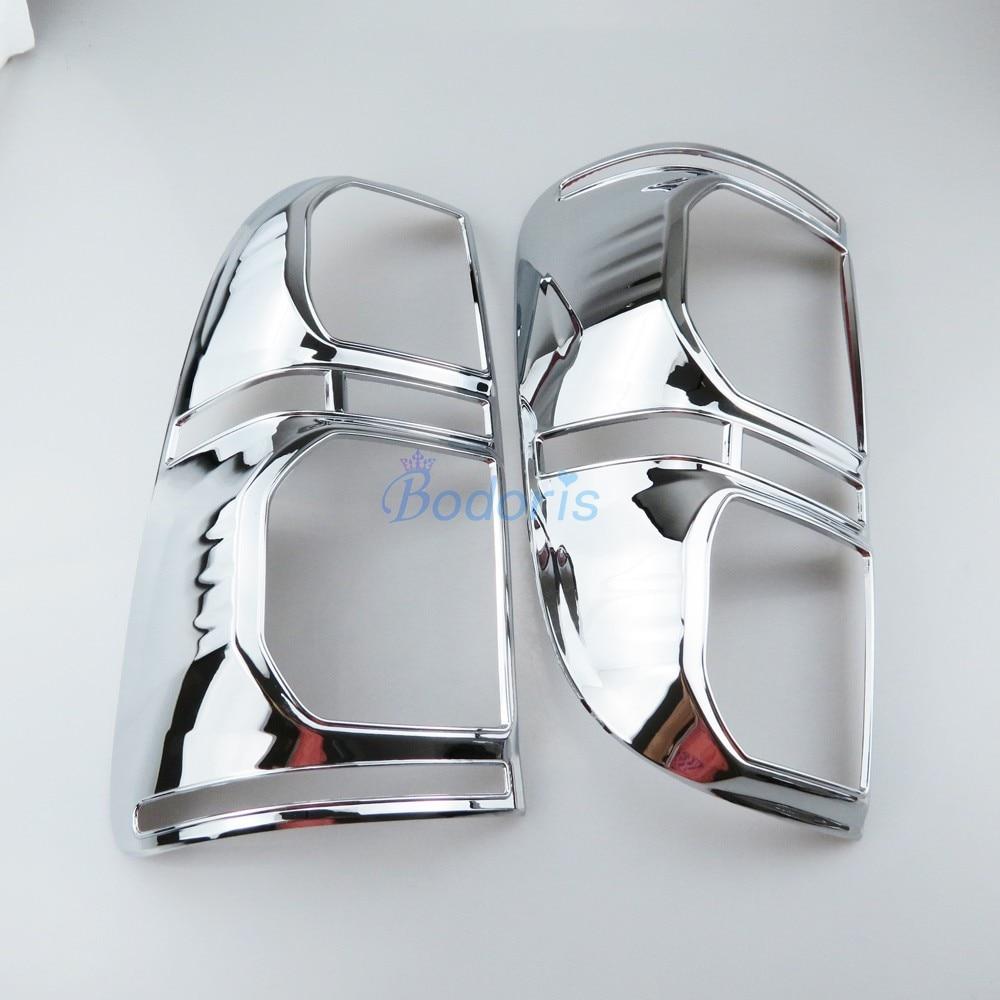 Chrome Car Styling Taillight Cover Lamp Light Overlay Panel Trim Frame Kit 2012 2013 2014 For