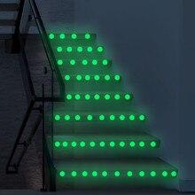 3D наклейка s звезды точка светится в темноте светящаяся флуоресцентная Наклейка на стену s нетоксичный ПВХ лестничный переключатель комнаты Декор стены стикер