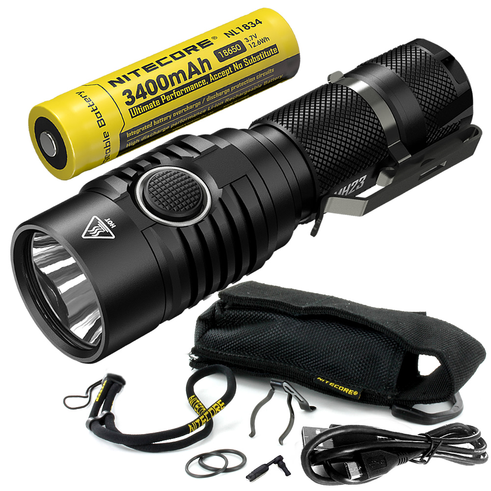 2018 nitecore MH23 1800 ルーメン Cree XHP35 HD LED 充電式ランプ防水懐中電灯 18650 バッテリー送料無料で  グループ上の ライト & 照明 からの LED フラッシュライト の中 1