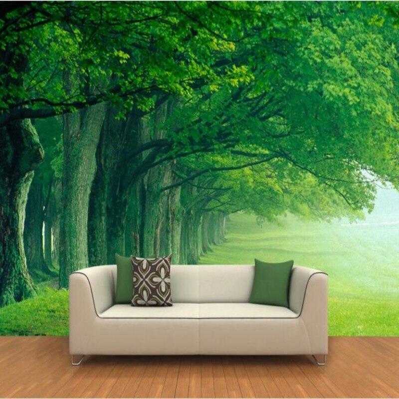 Beibehang Custom 3d wallpaper Gao Qingshen Linda tree TV family adornment bedroom wall scenery photo wallpaper