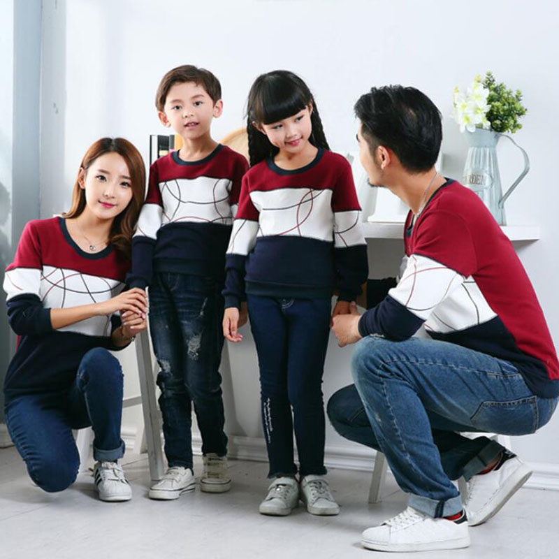 HTB1sf9xaMHqK1RjSZFEq6AGMXXaS - Plus Size Family Matching Outfits New Casual Autumn Mother Daughter Father Son Boy Girl Cotton Clothes Set Family Clothing