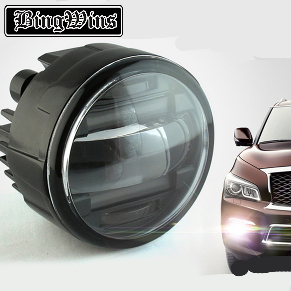 Car styling LED DRL Daytime Running Light Fog Lamp For Infiniti QX56 2011-2013 LED Lens Fog Light DRL Auto Accessories akd car styling for renault logan led fog light fog lamp logan led drl 90mm high power super bright lighting accessories