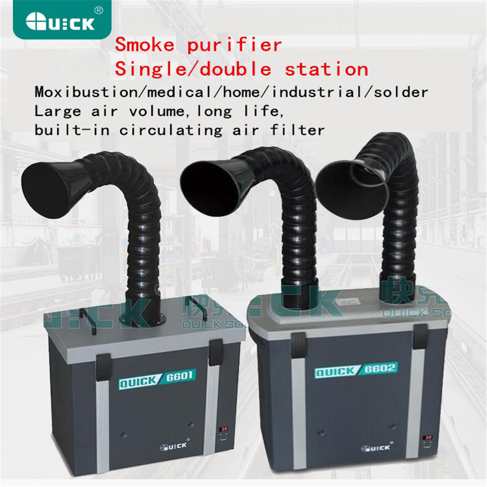 QUICK Smoke Purification Filter System, QUICK 6601 6602 Smoke Purifier,use For Moxibustion/medical/home/industrial/solder