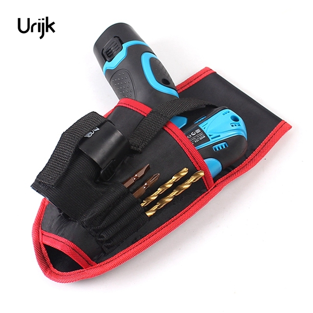 Urijk Thicken Waist Hanging Portable Screws Cordless Drill Holder Bag Power Charging Tool Repairing Holst Tool Pouch Pocket