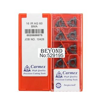 16 IR AG 60 BMA,CARMEX thread turning inserts  metric degree EXTERNAL threading insert tool holder boring bar