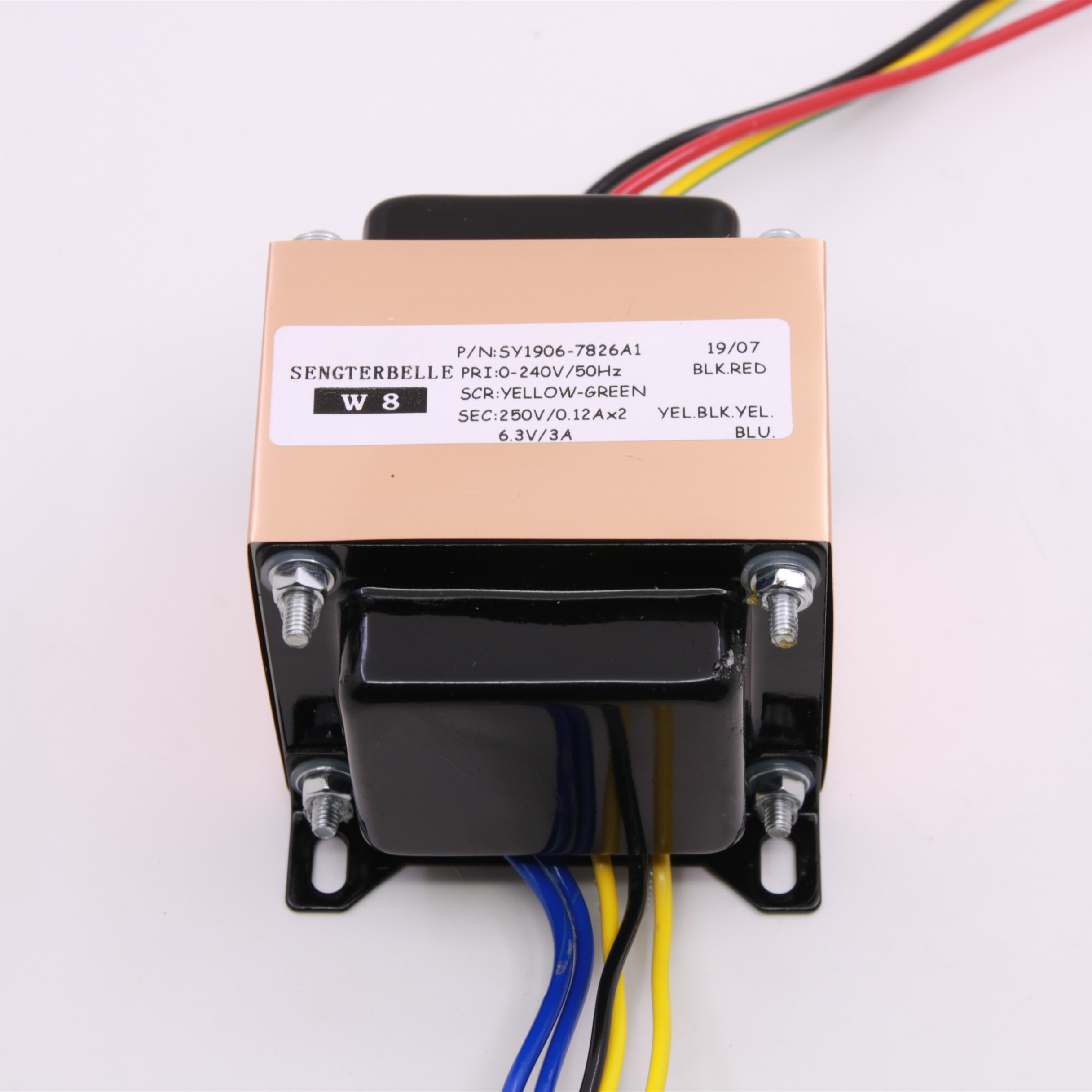 HIFI Amplifier Audio EI Transformer Output: AC250V (120mA)-0-AC250V (120mA), 0-AC6.3V (3A) Tube Amp PowerSupply