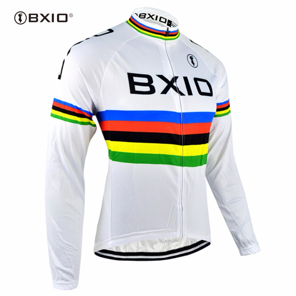 BXIO Mens Pro Ropa Cycling Jersey Winter Long Sleeve Ciclismo Bike Riding Wear Breathable Cycling Clothing Set 3D Gel Pad 048J