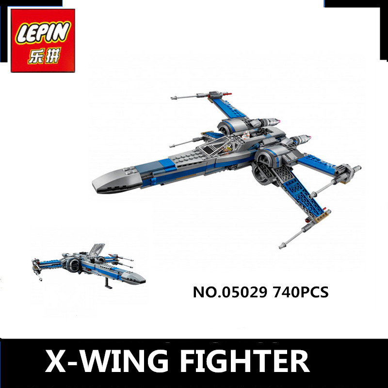 IN STOCK NEW LEPIN 05029 740PCS Star Rebel X-wing fighter Wars KIDS TOY Building blocks assembled Compatible toys 75149 Boy Gift