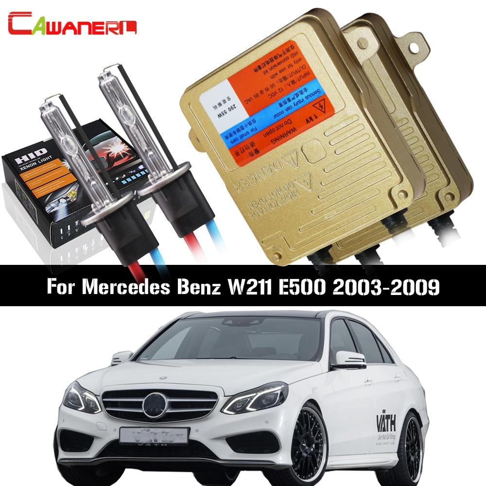 Cawanerl Pour Mercedes Benz W211 E500 2003-2009 55 w Voiture Lumière HID Xenon Kit AC Aucune Erreur Ballast lampe Auto Phare de Croisement