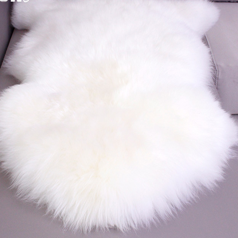 Pépinière plus grande véritable peau de mouton tapis vraie fourrure tapis lit jeter plancher couverture tapis blancs et tapis pour salon 75x115 cm