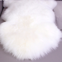 White Nursery Genuine Australia Sheepskin Rug Pelts Real Fur Carpet Bed Throw Floor Blanket Rugs and Carpets For Living Room