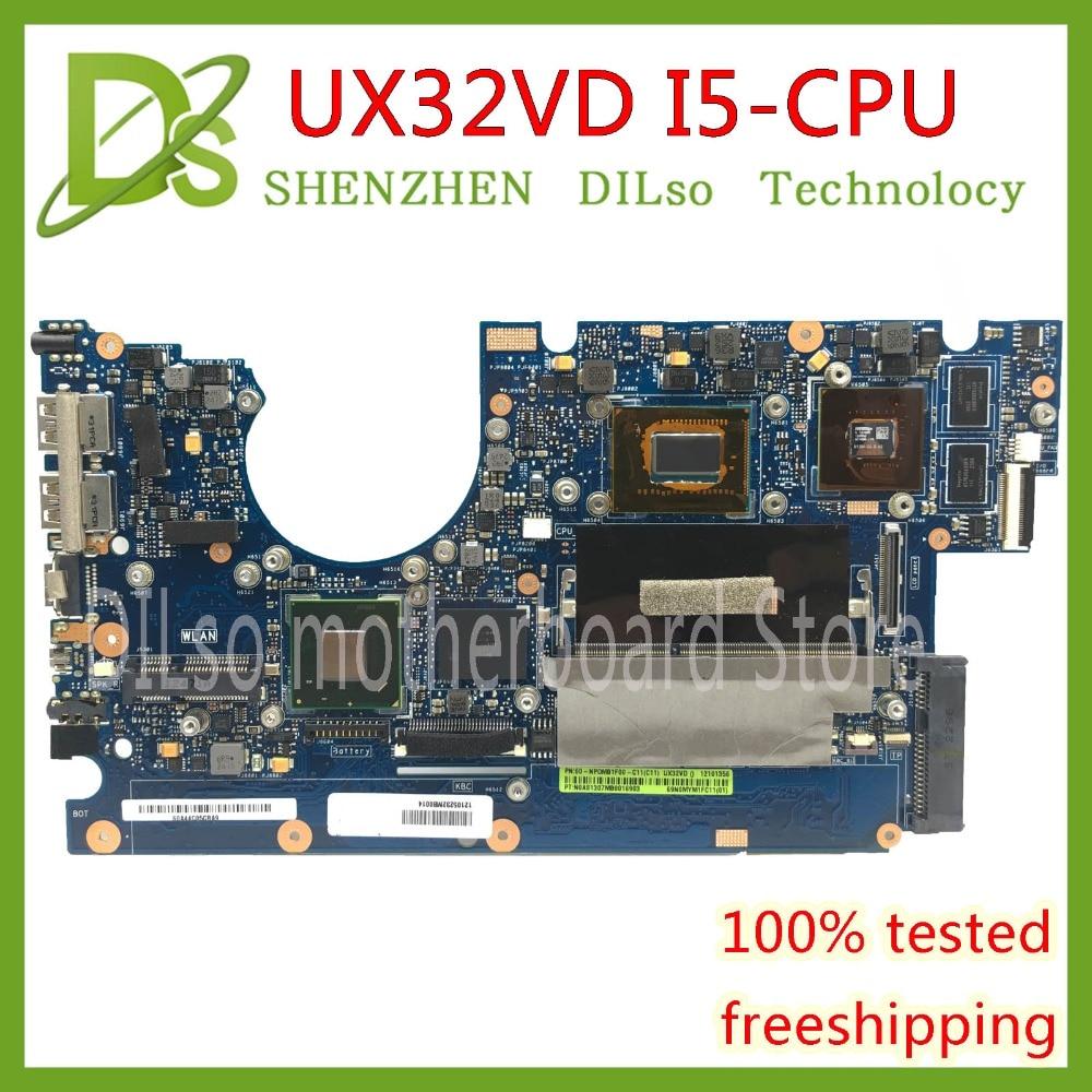 KEFU UX32VD motherboard for ASUS UX32V UX32VD laptop motherboard I5 CPU GT620M 2GB RAM original Test motherboard mainboard original for asus ux32a laptop motherboard ux32vd mainboard i3cpu integarted 2gb ram 100% tested free shipping
