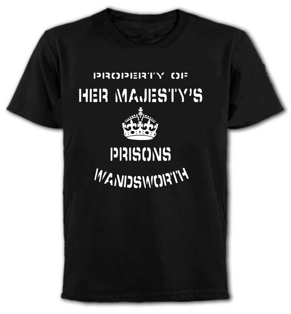 Hm Prison T Shirt-Customise Text Fancy Dress Funny All Design Men s 100% Cotton  T Shirts Summer Popular Short Sleeve Tee 5da30cd70