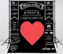 Booth Photocall Amor dia dos namorados Fundos Computador impresso contexto da Fotografia de casamento Vinil pano de fundo pano de Alta qualidade