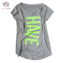Women Yoga Shirts Sports Fitness Short Sleeve T Shirt Ladies Running Loose Women's Quick Dry tights Tees Tops Clothing P092