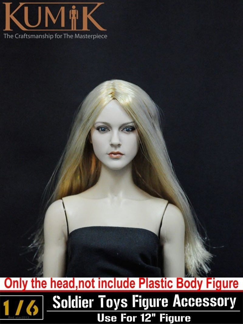 1/6 Scale KUMIK Head Sculpt Headplay Head Carving Model Female CY Girl 13-12-NP For 12 1/6 Action Figure Accessories цена