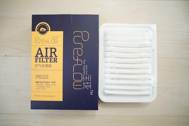 Воздушный фильтр для Toyota Corolla 1.6L/1.8L Vios 1.3L/1.6L Yaris RAV 4 VERSO AURIS AVENSIS oem: 17801-0T020 # PK123