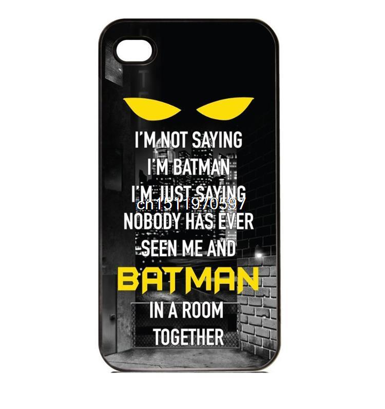 Vintage Saying I'm Batman Design Newest Custom Printed Hard Cover Case Iphone 4 4S 5 5S 5C 6 6S Mobile Phone Bags Protector - ShoppingBar store