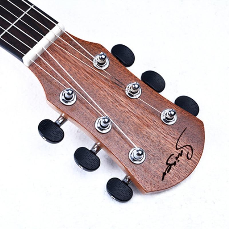 Guitare en épicéa ukulélé 30 pouces Hawaii Qin 6 cordes - 4