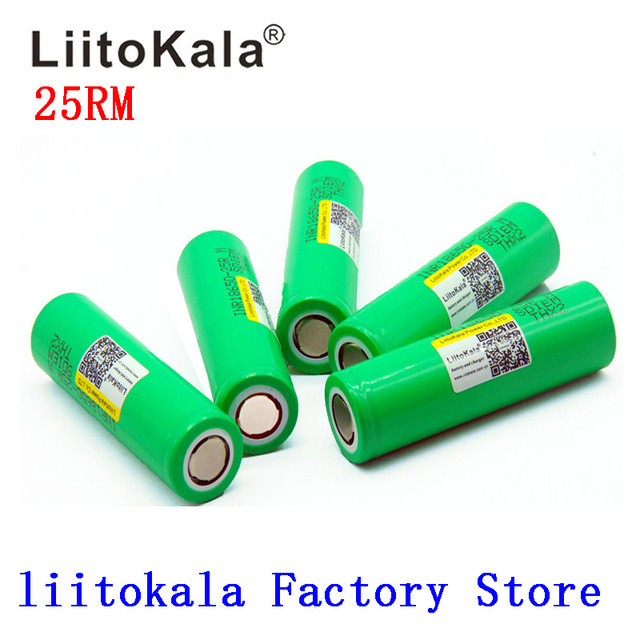 2019 NEW Liitokala 18650 Battery 2500mah INR1865025R 20A discharge lithium batteries electronic cigarette Battery 18650 2500 25R