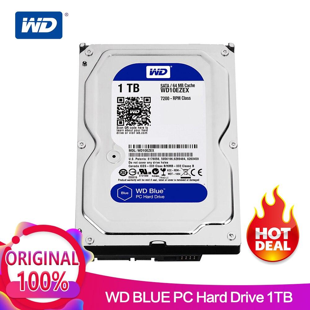 1 tb WD Bleu 3.5 SATA 6 gb/s HDD sata disque dur interne 64 m 7200PPM disque dur disque dur de bureau pour PC WD10EZEX