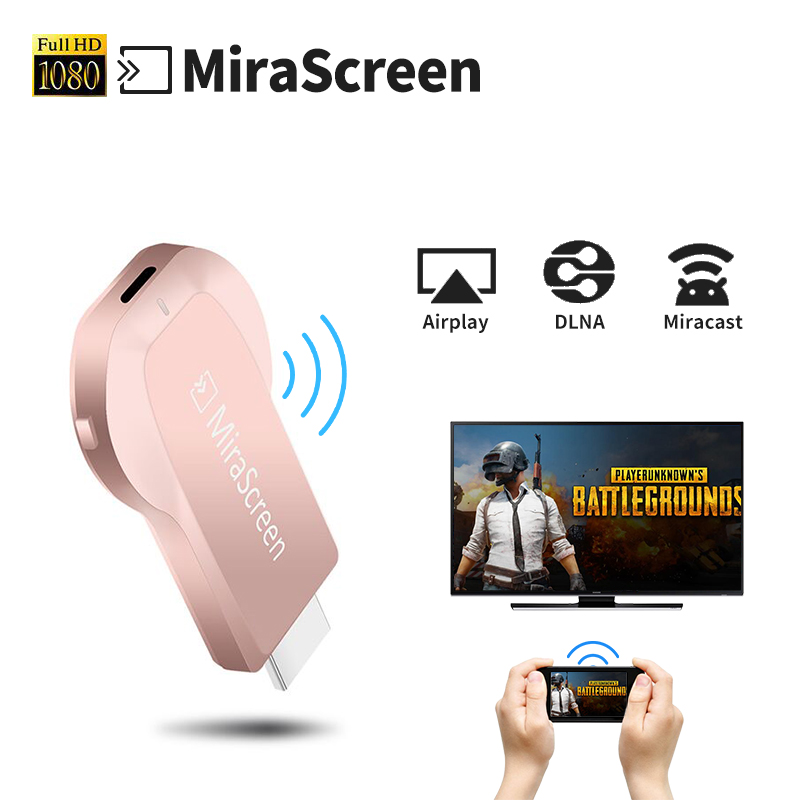 Mirescreen Android ТВ Мини-ПК ТВ ключ ТВ-карты HDMI WiFi Smart Media Player Airplay DLNA chrome литой для IOS Mac OS windows