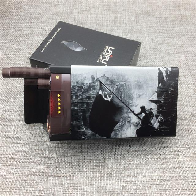 Conquering Berlin World War 2 Cigarette Case Aluminium Alloy Ultra-thin Male Metal Cigarette Boxes Laser Engraving Gift for Men