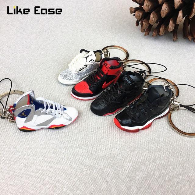 35cc96e951795f 3D Air Jordan Sneaker Keychains Mobile Phone Strap Lanyard for iPhone keys  Bag AJ Basketball Shoes