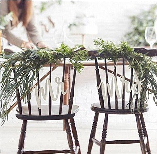 Белая акриловая мистер и миссис сценарию висит знак письмо украшения-красивые ботаника, свадебные украшения