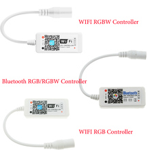 LED WIFI Controller 4.0 Bluetooth Control 5050 RGBW RGB LED Strip Tape 24 Keys Remote IOS Android Phone Light Controler DC12V