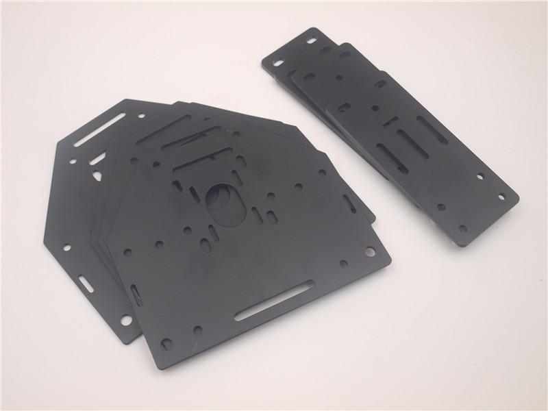 Machine à CNC Shapeoko NEMA17/NEMA23 support moteur amélioré + plaques d'extrémité * 4 pour rail linéaire MakerSlide ShapeOko