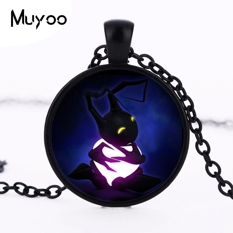2017 new hot 2015 Vintage Style Kingdom Hearts Necklace Silver Heartless Shadow Collares HZ1