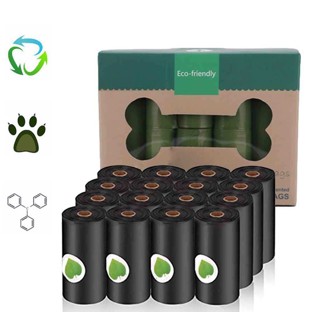 New Biodegradable Dog Poop Bags Eco-Friendly Pet Waste Dispenser Outdoor Carrier Pet Poop Bags Dog Walking Supplies