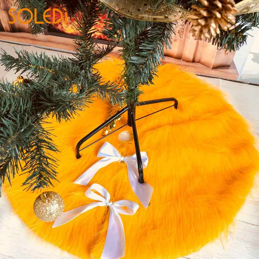 Christmas Tree Stand For Sale Detail Feedback Questions About Golden Brown Long Plush Winter