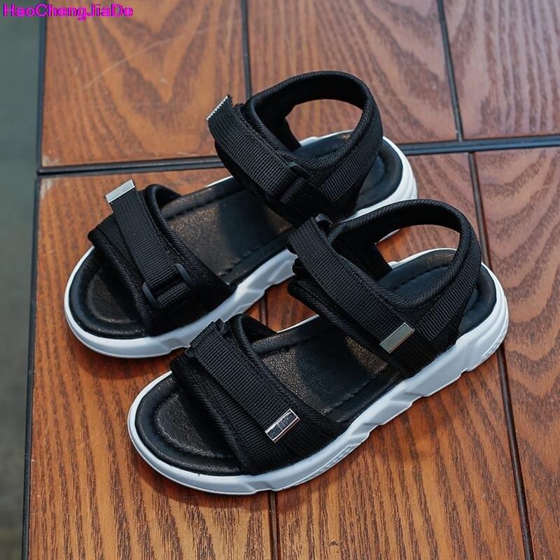 HaoChengJiaDe 2018 Wholesale Boys Nubuck Leather Sandals Fashion Kids  Summer Flats Single Shoes Children Antislip Sole Sandals abfde7998c41