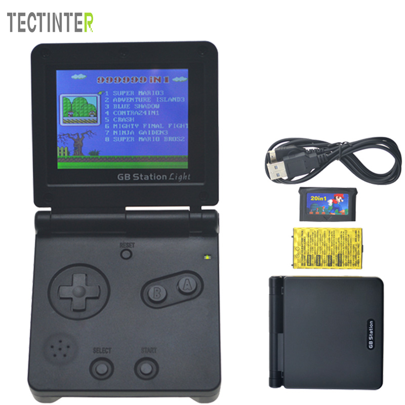 8-Bit Game Console with Bulit-in 142 Games GB Station Light boy SP PVP Handheld Game Player Retro Style For Gaming