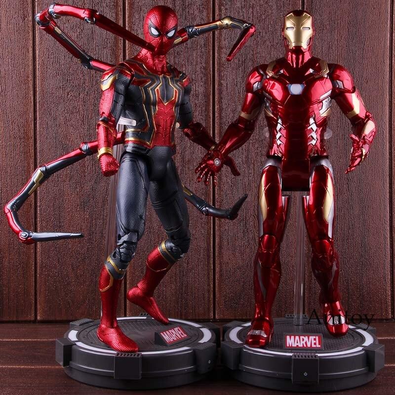Marvel Captian América figura de acción guerra Civil vengadores Infinity War Iron Man Spider Man coleccionable modelo de juguete con luz LED-in Figuras de juguete y acción from Juguetes y pasatiempos    1