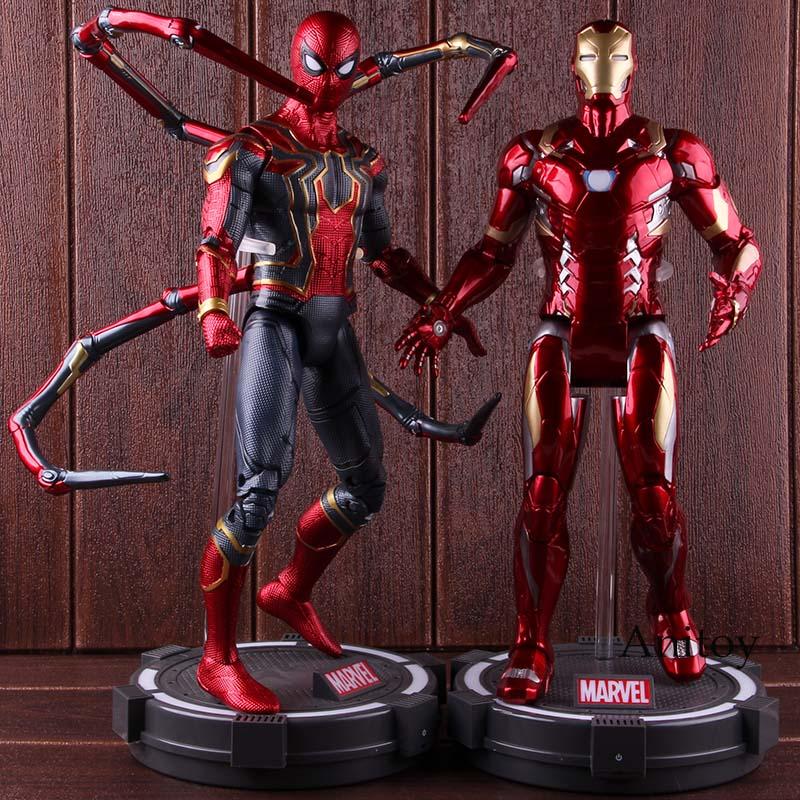 Oyuncaklar ve Hobi Ürünleri'ten Aksiyon ve Oyuncak Figürleri'de Marvel Kaptan Amerika Aksiyon Figürü İç Savaş Avengers Infinity Savaş Demir Adam Örümcek Adam Koleksiyon Model Oyuncak ile led ışık'da  Grup 1