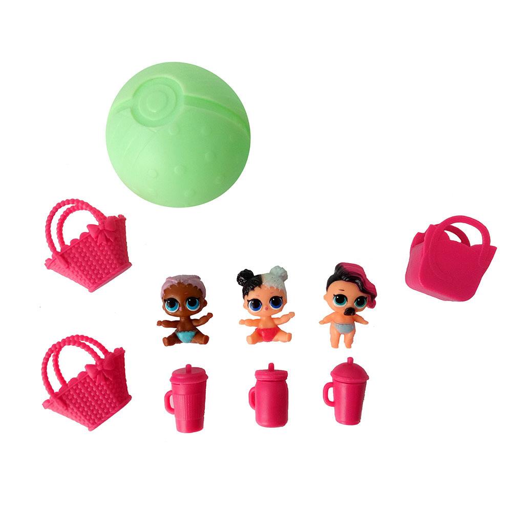 4 шт./лот 7.5 см ржунимагу кукла лил сестры мяч игрушка цифры яйцо мяч распаковки игрушечные лошадки boneca кукла бугага подарок игрушечные лошадки для обувь для девочек без функция
